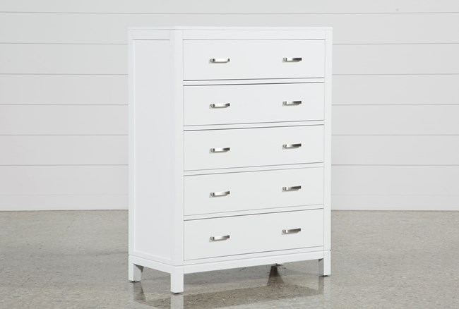 Hayden White Chest Of Drawers - 360