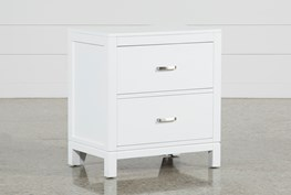 Hayden White Nightstand