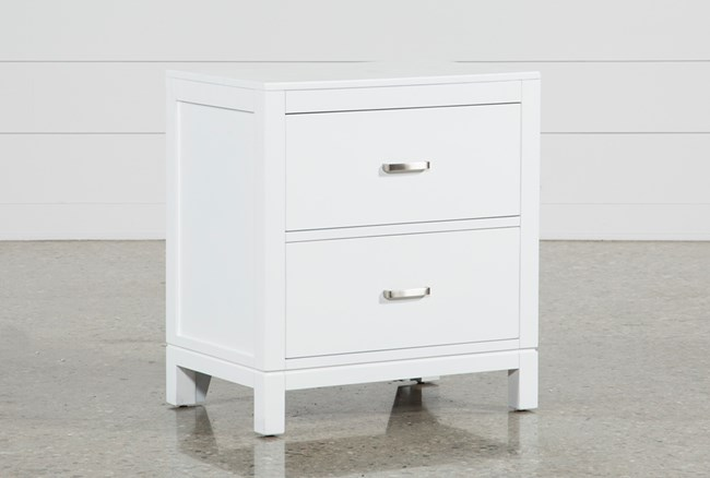 Hayden White Nightstand - 360