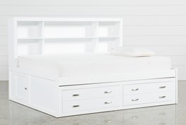 Hayden White Full Roomsaver Bed