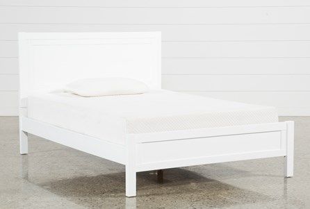Hayden White Full Panel Bed