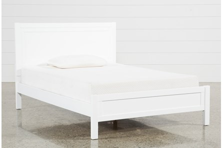 Hayden White Full Panel Bed - Main