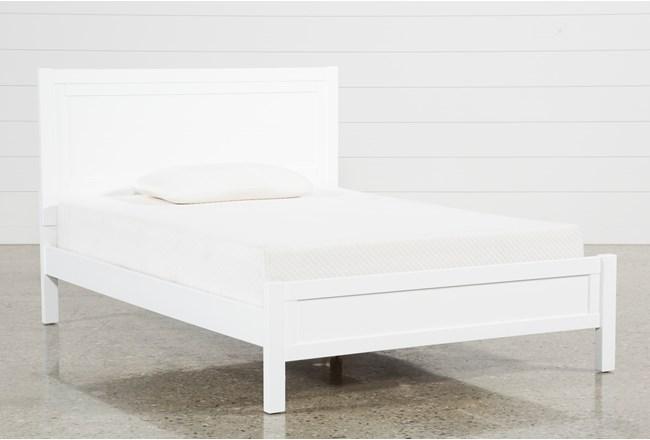 Hayden White Full Panel Bed - 360