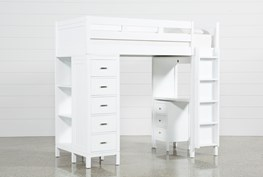 Hayden White Loft Bed