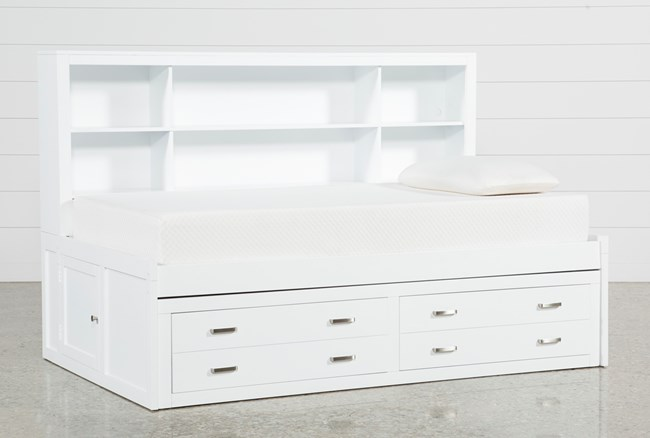 Hayden White Twin Roomsaver Bed - 360