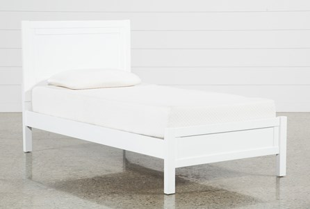 Hayden White Twin Panel Bed