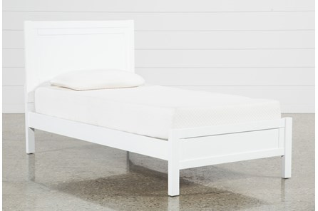 Hayden White Twin Panel Bed - Main
