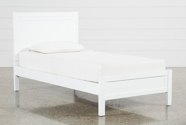 Hayden White Twin Panel Bed - 360