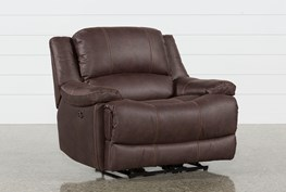 Garth Chocolate Cuddler Power Recliner