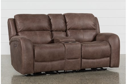 Deegan Bark Power Reclining Loveseat