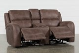 Deegan Bark Power Reclining Loveseat - Right