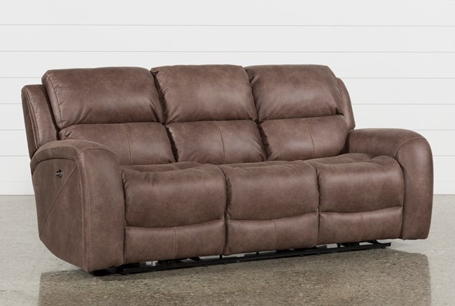 Deegan Bark Power Reclining Sofa - 360