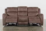 Deegan Bark Power Reclining Sofa - Right