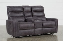 "Malia Power Reclining 70"" Console Loveseat With Usb"