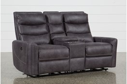 Malia Power Reclining Console Loveseat With Usb