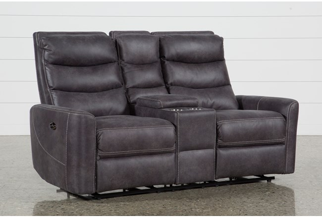 "Malia Power Reclining 70"" Console Loveseat With Usb - 360"