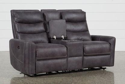 Enjoyable Malia Power Reclining Console Loveseat With Usb Ibusinesslaw Wood Chair Design Ideas Ibusinesslaworg