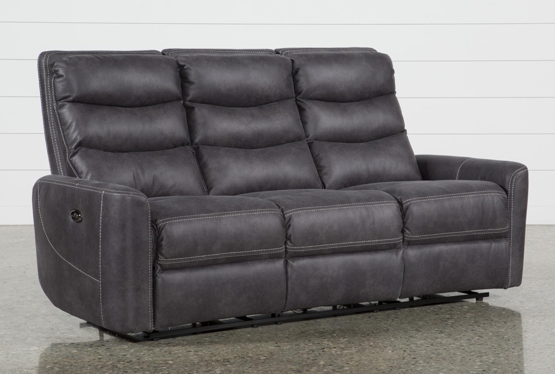 malia power reclining sofa living spaces rh livingspaces com power sofa recliner mechanism sofa power recliner houston