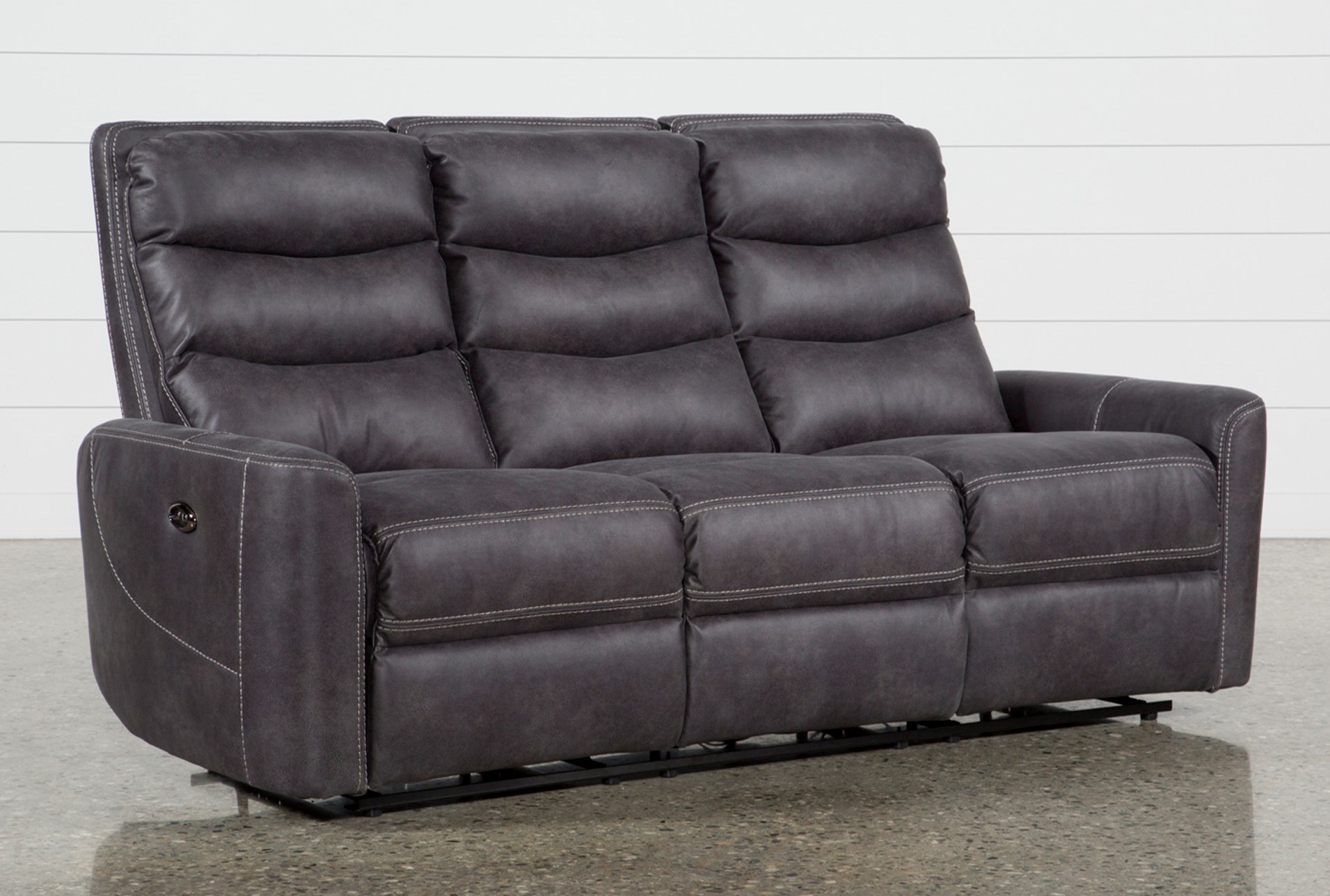 black seater lounge recliner reclines with theatre leather nikki home brand sofa new itm suite
