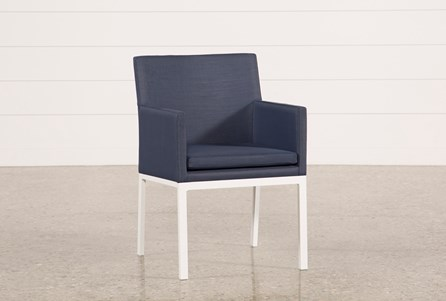 Outdoor Biscayne II Navy Upholstered Dining Chair