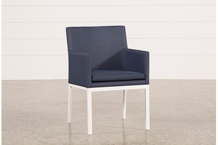 Outdoor Biscayne II Navy Upholstered Dining Chair - Main