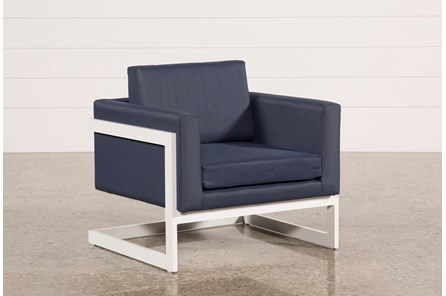 Outdoor Biscayne II Navy Lounge Chair - Main