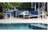 Outdoor Biscayne II Navy Lounge Chair - Room