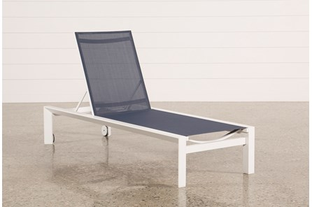 Outdoor Biscayne II Navy Chaise Lounge - Main