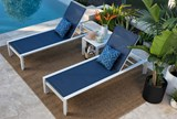 Outdoor Biscayne II Navy Chaise Lounge - Room