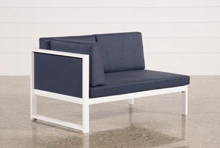 Outdoor Biscayne II Navy Left Facing Loveseat