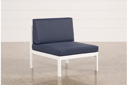 Outdoor Biscayne II Navy Armless Chair - Main