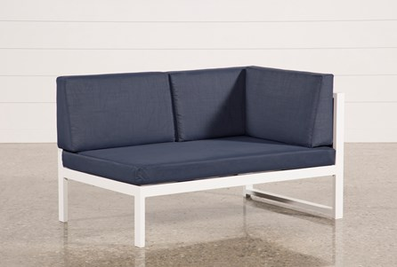 Outdoor Biscayne II Navy Right Facing Loveseat