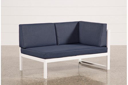 Outdoor Biscayne II Navy Right Facing Loveseat - Main