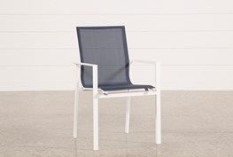 Outdoor Biscayne II Navy Dining Chair