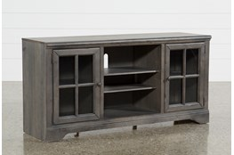 Preston 66 Inch TV Stand With Glass Doors
