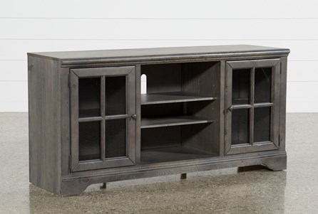 Preston 66 Inch TV Stand With Glass Doors - Main