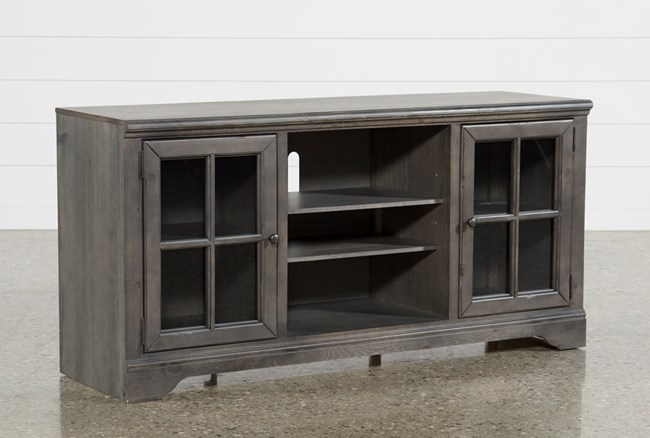 Preston 66 Inch TV Stand With Glass Doors - 360