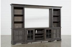 "Preston 118"" 4 Piece Entertainment Center With Glass Doors"