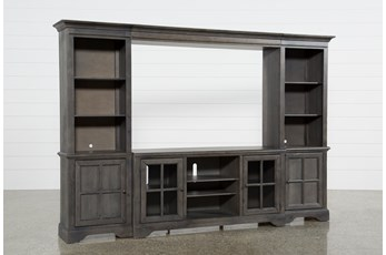 "Preston 118"" 4 Piece Entertainment Center With Glass Doors"