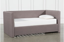 Emmerson Upholstered Twin Daybed With Trundle