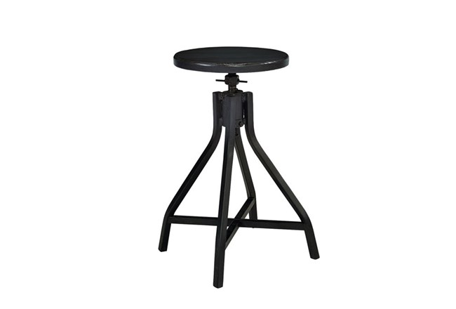 Magnolia Home Black Swivel Stool By Joanna Gaines - 360