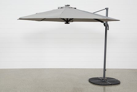 Outdoor Tech Cantilever Grey Umbrella