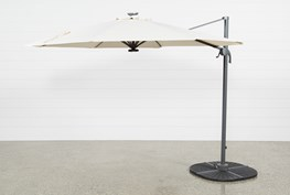 Outdoor Tech Cantilever Beige Umbrella