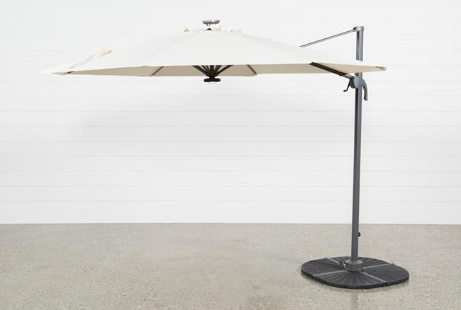 Outdoor Tech Cantilever Beige Umbrella - 360