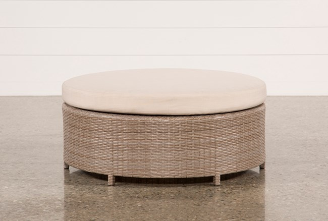 Outdoor Ibiza Round Cocktail Ottoman - 360