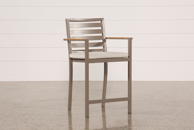 Outdoor Brasilia Teak High Dining Chair - 360