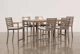 Outdoor Brasilia Teak 7 Piece High Dining Set - Signature