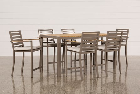 Outdoor Brasilia Teak 7 Piece High Dining Set