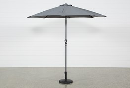 Outdoor Dark Grey Parasol Umbrella