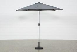 Outdoor Dark Grey Parasol Umbrella